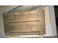 OLD WOOD CRATE FOR DISPLAY.