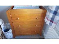 MAMAS &PAPAS WARDROBE AND changing CHEST OF DRAWERS