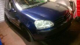 VOLKSWAGEN 2005 VW GOLF MK5 BREAKING 1.6 FSI SHADOW BLUE LD5Q BLP ENGINE HBM 6 SPEED GEARBOX