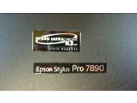EPSON 7890 LARGE FORMAT PRINTER CANVAS/MEDIA, LARGE INKS FITTED LESS THAN APPROX 100 PAGE PRINTED