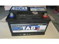 Battery ideal for diesel or van as new.