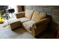 Two and three seater plus footstoll sofas