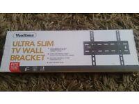 "Von haus ultra slim tv wall bracket fits tv 15""-42""built in spirit level to get perfect fit"