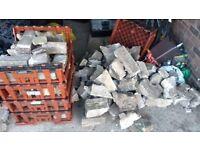 Free five 90x60cm comcrete slabs and hardcore rubble