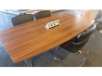 Powered Office Meeting Table & Chairs