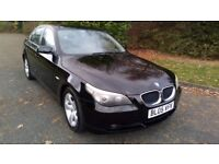 BMW 525 TDI SE 05 REG IN BLACK WITH GREY TRIM, 1 OWNER FROM NEW AND FULL BMW SERVICE HISTORY