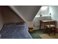 Room to rent. Single bed-sit room with nice views. Top floor in large, quiet, luxury family house.