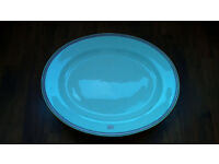 MEAT PLATTER ANTIQUE VERY LARGE OVAL