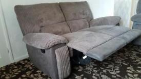 2 seater reclining sofa with reclining armchair
