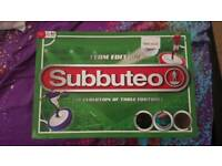 2X SUBBUTEO RETRO TABLE FOOTBALL