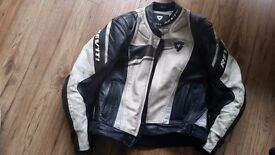 Revit Leather Motorcycle Jacket, size 52