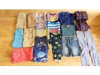 Boy's super summer clothes bundle age 5-6 including Fat Face, Marks and Spencer, babyGap