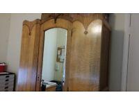 Vintage hall cupboard or wardrobe