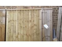 Pair of wooden gates - heavy duty - new