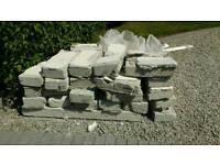 Concrete blocks rubble