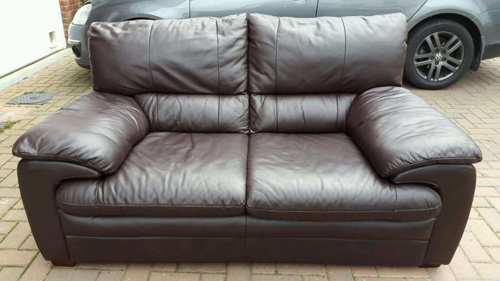 Dfs brown leather 2 seater sofa in letchworth garden city hertfordshire gumtree Dfs 4 seater leather sofa