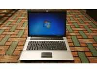 HP LAPTOP-WINDOWS 7- CORE 2 DUE-160GIG-FULLY WORKING-OFFICE 2016-DVD-FREE DELIVERY