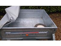 Erde 122 trailer with cover and spare wheel
