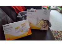 Medela swing single electric breastpump (used) Medela breastmilk store and feed set (unopened)