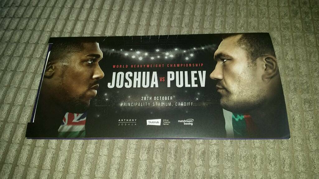 6 x Anthony Joshua vs Kubrat Pulev Boxing Tickets