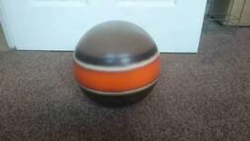 Orange striped decorative ball