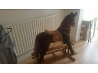 Retro mamas and papas rocking horse