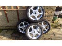 BMW Mini 5 spoke wheels and tyres