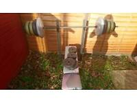 Bench with weights set over 80kg