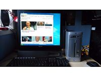 HP Pavilion Slimline s7510uk Desktop PC with Sony SDM-E96D 19'' LCD monitor
