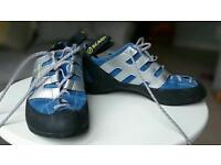 Brand new Scarpa climbing shoes ladies size 5.5 price neg.