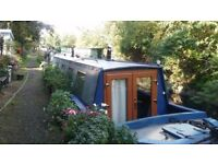 63ft narrowboat with residential london mooring
