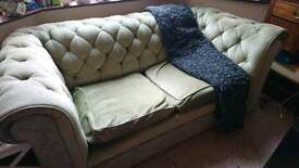 Free Green Chesterfield style sofa settee
