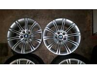 5 X GENUINE BMW MV2 ALLOYS 4 ARE SILVER 1 IS GREY