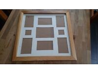 Multi-picture frame - wood effect
