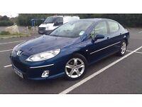 REDUCED BY £200 - Peugeot 407 HDI 2.0 Auto Saloon in Metallic Blue, MOT & FSH.
