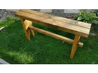 Garden bench coffee table hand made