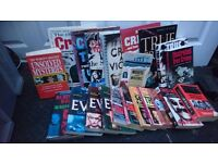 Assortment books / forensic / crime / murderers / seriel killers /