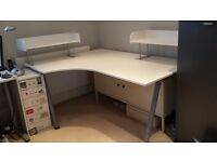 IKEA GALANT WHITE LEFT CORNER DESK - 2 SHELVES - EXCELLENT CONDITION!!!