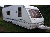 2004 Swift Conqueror 580 SAL Twin Axle 4 Berth Side Dinette End Washroom Caravan