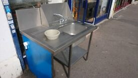 1.15m Stainless Steel Single Bowl Sink