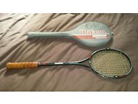 Wilson aggressor graphite squash raquet for sale. excellent condition.