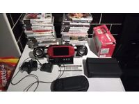 Psp in box plus games