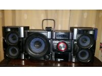 Sony Stereo System with radio/cd/ipod player, two speakers, subwoofer, radio antenna £85