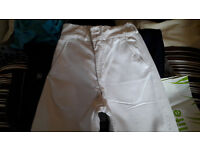 1976 Royal Navy Tropical White Bell Bottoms 26-28 Inch Waist