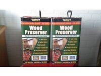 Everbuild Wood Preserver 2 x 5litres - Golden Chestnut