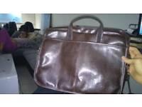 Solier man handbag leather brown
