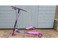 Girls 3 wheel Air Scooter Twist Flicker Folding