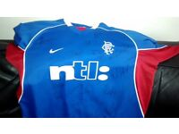 SIGNED Rangers 2001-02 Jersey