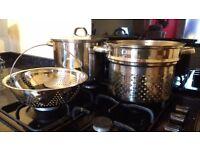 Pasta pot/ stockpot - 4 piece set
