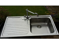 Franke Stainless Steel Inset Sink for Sale. 1000mm x 500mm complete with tap and strainer waste. £10